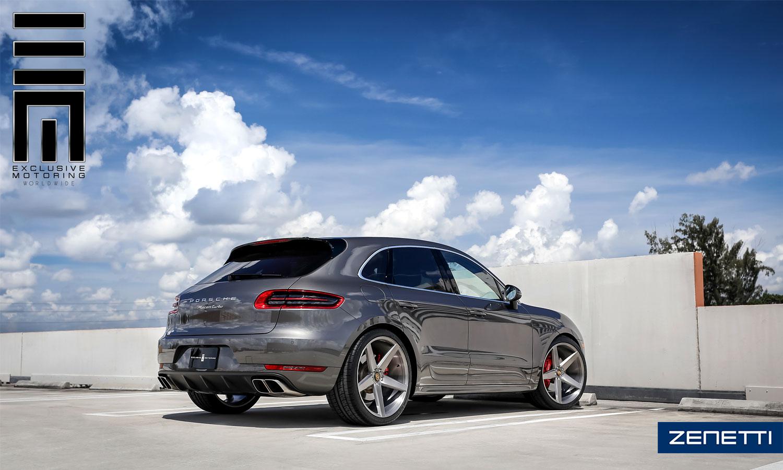 Zenetti Wheels Baron Titanium Brushed Porsche Macan