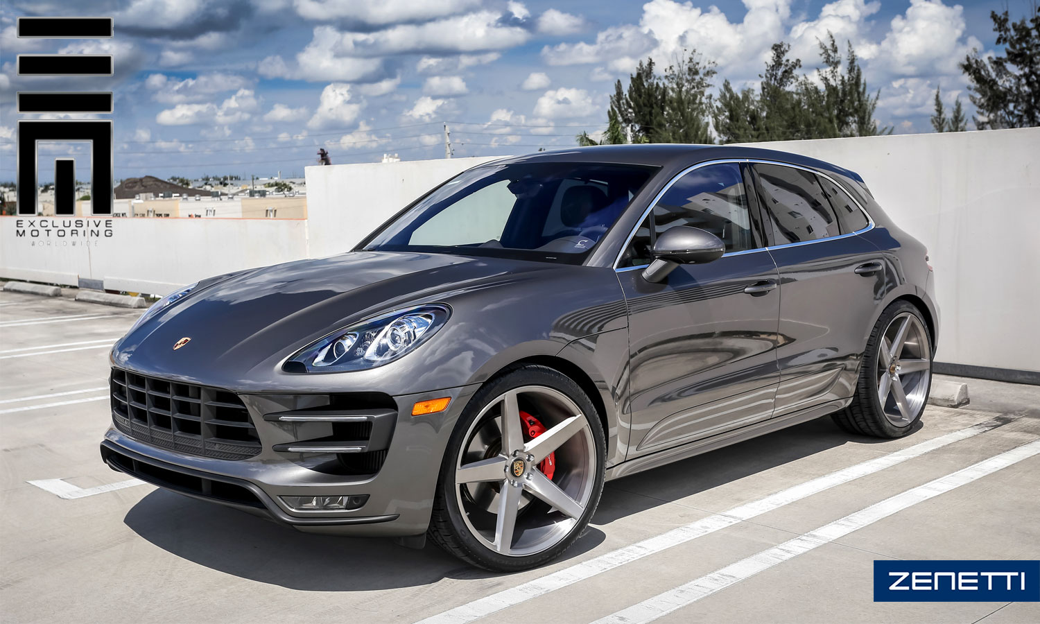 Zenetti Wheels | 2016 Porsche Macan S with Brushed Silver Zenetti Baron 22x10.5